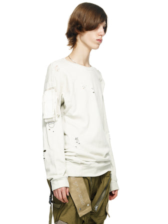 DISTRESSED UTILITY POCKET PULLOVER - DYED - HAMCUS