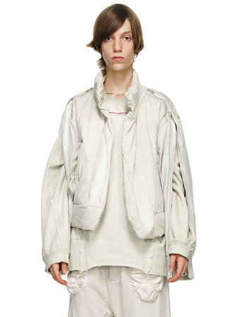 SPLIT SLEEVE PADDED JACKET - DYED - HAMCUS