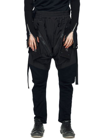 PADDED MILITARY GEO-CARGO PANTS