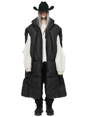 THE HOMELESS GEO-LAYERED MULTI FORM DOWN PUFFER PONCHO