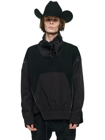 FUNNEL COLLAR WINDBREAKER PULLOVER - HAMCUS