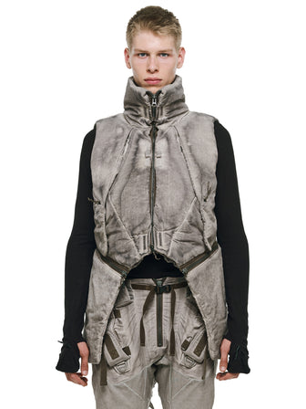 ARCTIC MANTA MODULAR WAISTCOAT WITH CONCEALED CAPE - HAMCUS