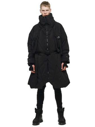 THE AGENT MULTI FUNCTIONAL  LAYERED QUILTED LONG COAT - HAMCUS
