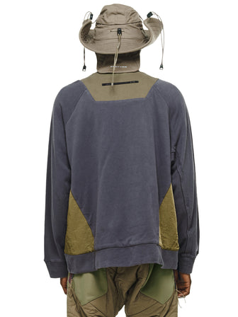 CARGO COLLAGE FABRIC PULLOVER - HAMCUS