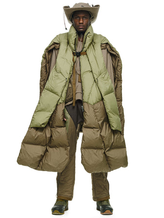 THE RAVENGERS GEO-LAYERED MULTI FORM DOWN PUFFER PONCHO - HAMCUS