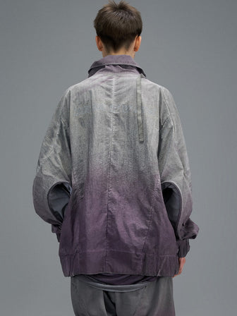 CONCEALED KANGAROO POCKET WINDBREAKER / NIGHTSHADE