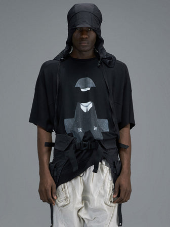 """NUN"" GEO-CUT SWEATER T-SHIRTS - HAMCUS"