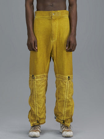 DOUBLE LEG LAYERED LOUNGE PANTS / SULPHUR