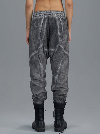 PERFORATED NET KANGAROO POCKET WB TROUSERS