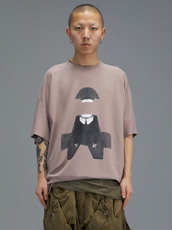 """NUN"" GEO-CUT SWEATER T-SHIRTS"