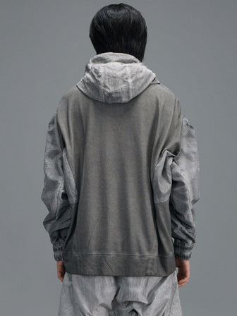 """LUMBERER"" WB-SLEEVES SNAP-ON-HOODIE / PULLOVER - HAMCUS"