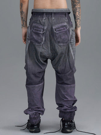 WB LEG PATCHED GEO POCKET LOUNGE PANTS / NIGHTSHADE - HAMCUS