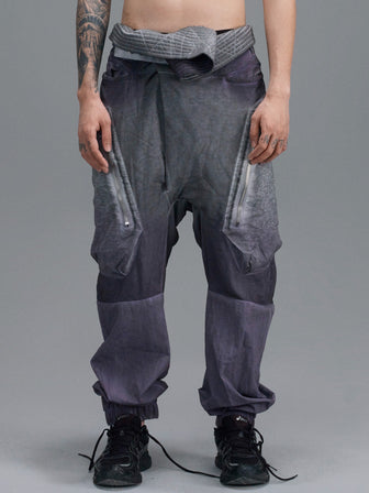 WB LEG PATCHED GEO POCKET LOUNGE PANTS / NIGHTSHADE