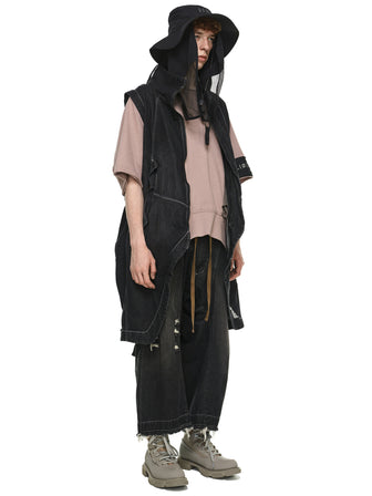 MODULAR DENIM VEST/COAT