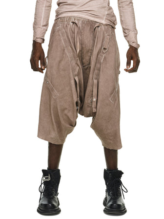 STRAPS ADJUSTABLE DROP-CROTCH SHORTS