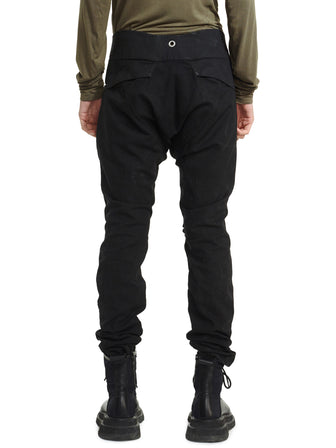 GEO SLIM-FIT TROUSERS WITH KNEE OPENING