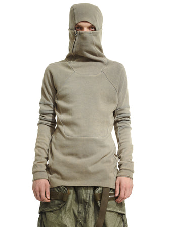 HOOD-MASK SWEATER