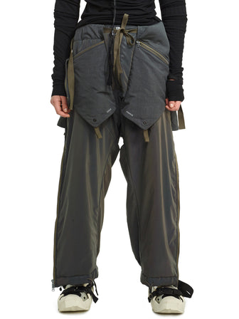 aurora reflective geo panel layered quilted snow pants