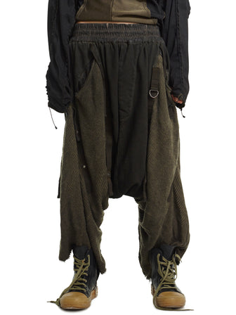 GHOST OF THE OFFWORLD / ANTIQUE DROP CROTCH SHORTS