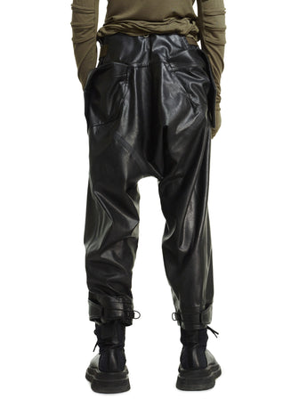 SYNTHETIC LEATHER PANTS ALL TAPPED