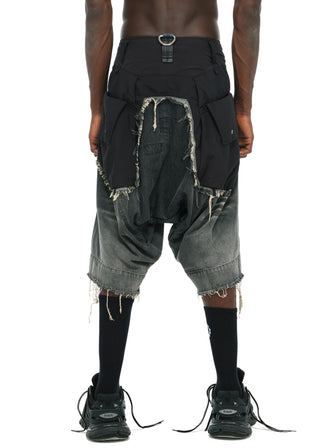 GEO CARGO DENIM SHORTS - HAMCUS