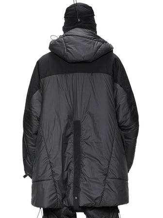 geo panel layer thermolite quilted long coat