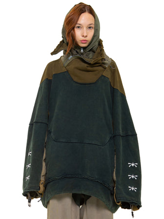 The Botanist geo panel oversized pullover