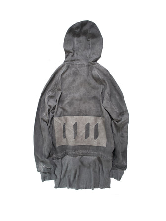 VOLCANIC GRAY DYED HOODED PARKA