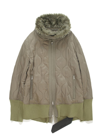 THERMOLITE INSULATION PADDED WIRED FUR COLLAR COAT