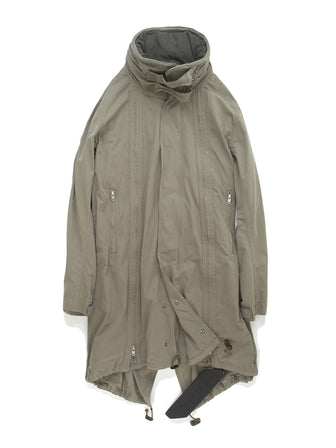 11 ZIPPER ADJUSTABLE BODY / WIRED COLLAR PARKA - HAMCUS
