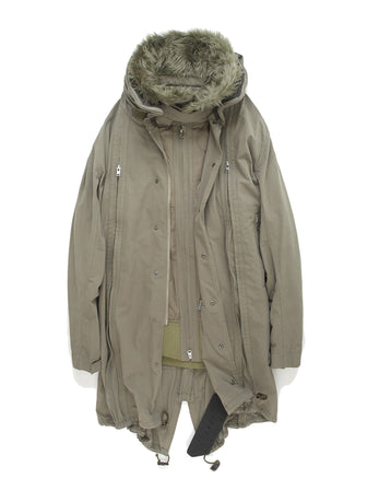 11 ZIPPER ADJUSTABLE BODY / WIRED COLLAR PARKA