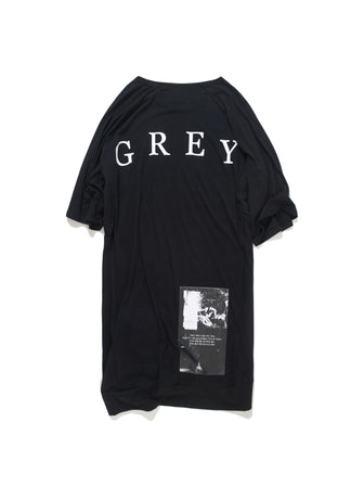 GREY GRAPHIC PRINTED T-SHIRT