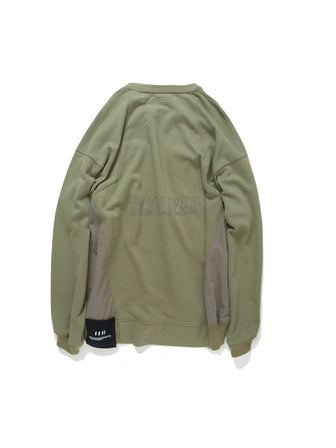 PATCHED MULTI POCKETS GEO-CUT PULLOVER