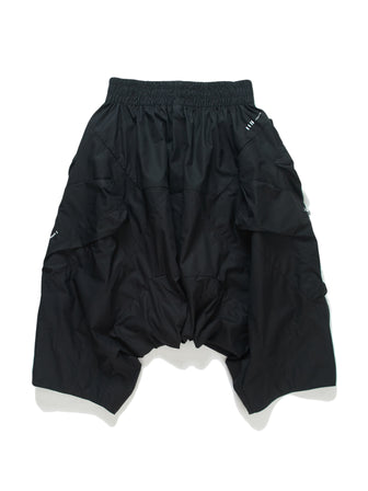 OVERSIZED DROP-CROTCH GEO-CARGO SHORTS - HAMCUS