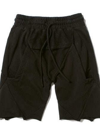 CEO-CUT LOUNGE SWEAT SHORTS / BLACK - HAMCUS