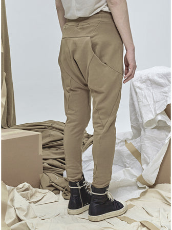 GEO-CUT DROPCROTCH SWEAT PANTS