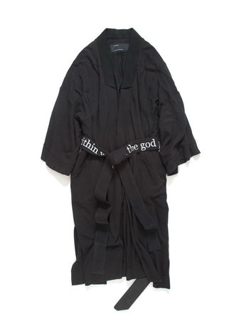 EMBROIDERY COTTON BATHROBE / KIMONO