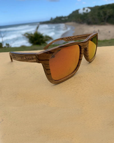Retro Polarized Bamboo Wooden Sunglasses