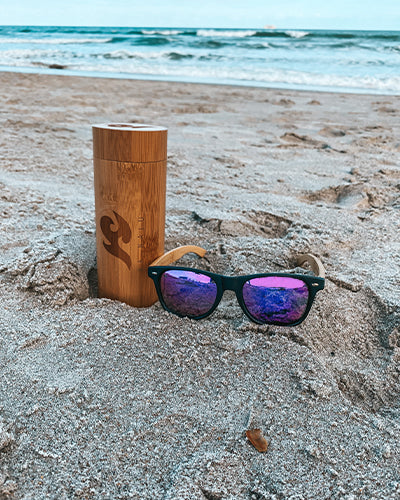 Retro Natural Bamboo Sunglasses