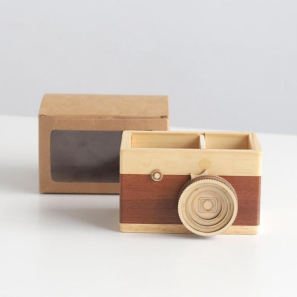 Camera Lookalike Keepsake Storage Box-Desktop Organizer-10.6, 12.6 cm - Boxes - Timberack - timberack.com