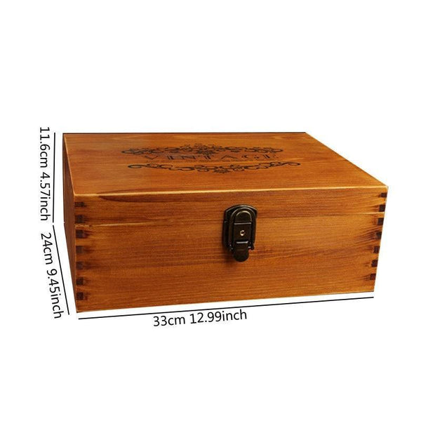 Vintage Hinged Lid Keepsake Storage Box-Box Finger Joinery-33*24*11.6 cm - Boxes - Timberack - timberack.com