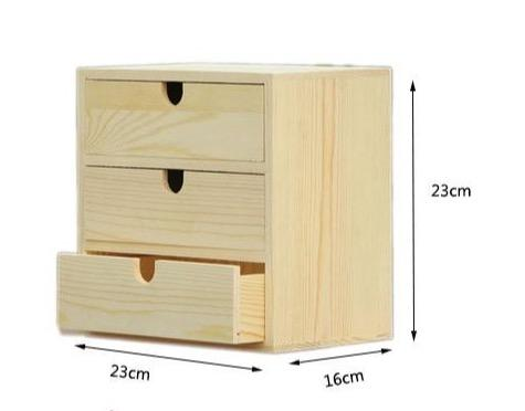 Desktop Drawer Organizer Cabinet-Small Drawer Unit-23*16*23 cm - Desktop Accessories - Timberack - timberack.com