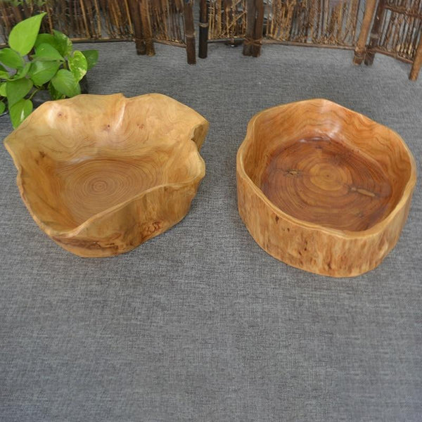 Handmade Tree Trunk Bowl Carving-Solid Wood Bowl-20*24 cm - Bowls - Timberack - timberack.com