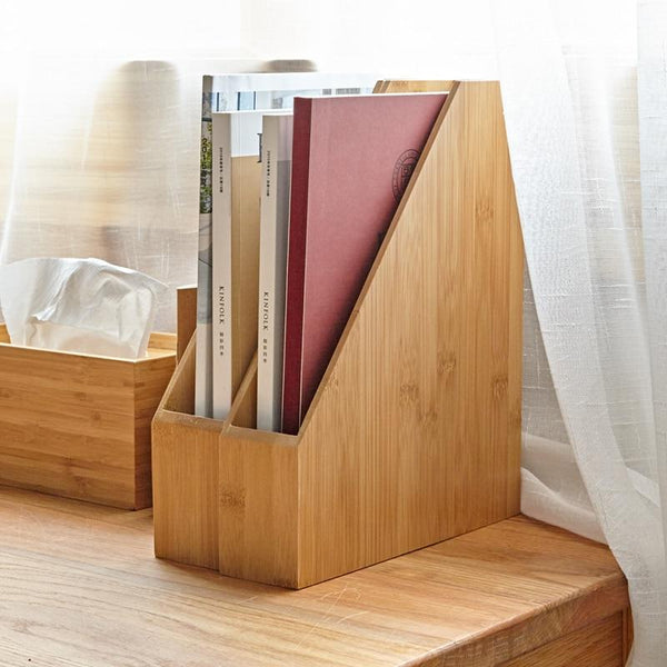 Desktop Magazine Organizer Stand-Book Holder Stand-File Stand-Small, Large - Desktop Accessories - Timberack - timberack.com