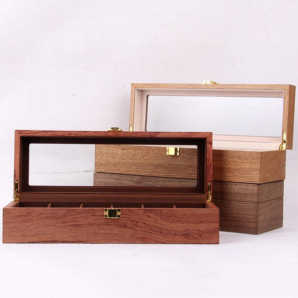 Retro Watch Keepsake Box-Display Case-6 Grid - Boxes - Timberack - timberack.com
