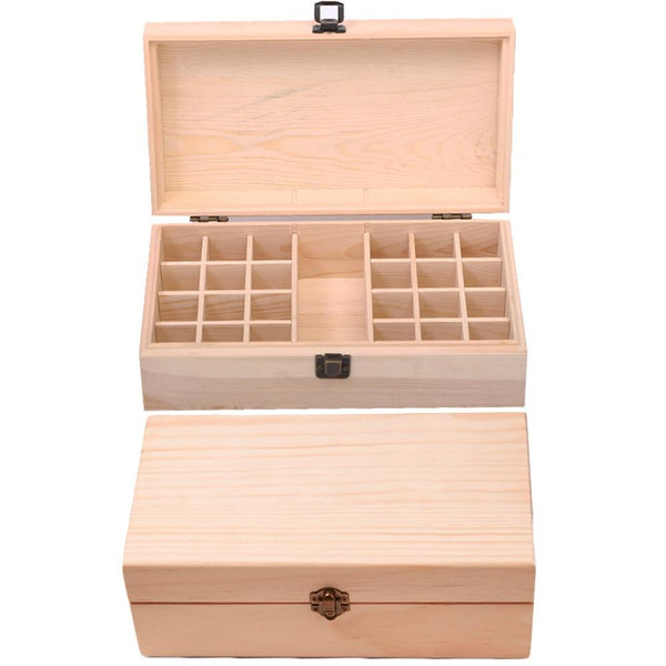 Hinged Lid Keepsake Box-Removable Internal Dividers-27.5*9.2 cm - Boxes - Timberack - timberack.com