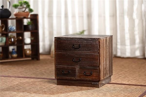 Antique End Table-Solid Wood Drawer Bedside Nightstand-30*25*30 cm - End Tables - Timberack - timberack.com