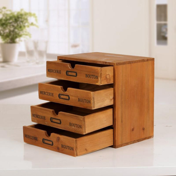 Multi Layer Retro Drawer Finishing Cabinet-Stackable-24.5 cm - Desktop Accessories - Timberack - timberack.com