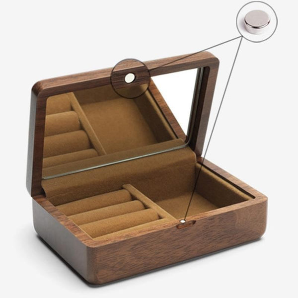 Travel Jewelry Keepsake Box-Portable Jewelry Organizer-12*8*4 cm - Boxes - Timberack - timberack.com