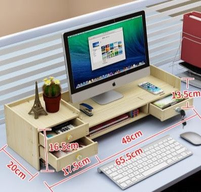 Multifunction Desktop Monitor Stand-Computer Screen Riser - Desktop Accessories - Timberack - timberack.com